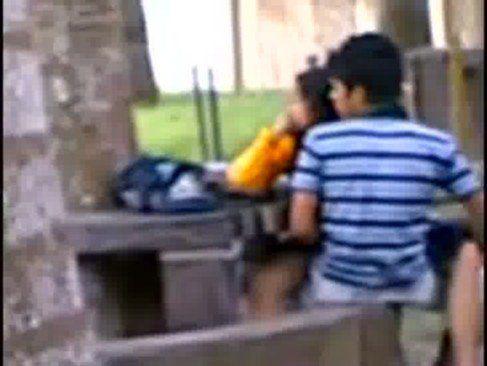 Casalzinho trepando no parque
