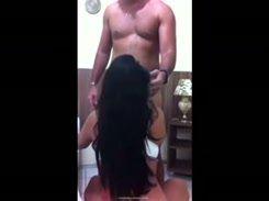 Morena tesuda foi flagrada no sexo amador